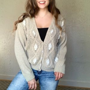 Hand Knitted Unique Vintage Sweater